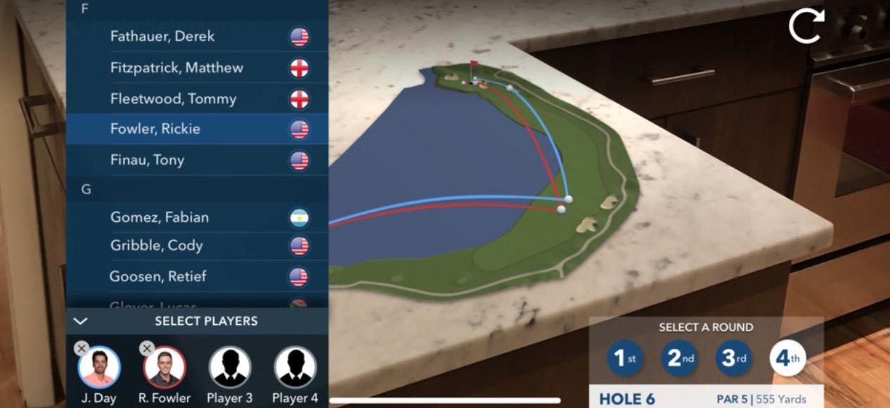 PGA Tour komt met live golf kijken via AR