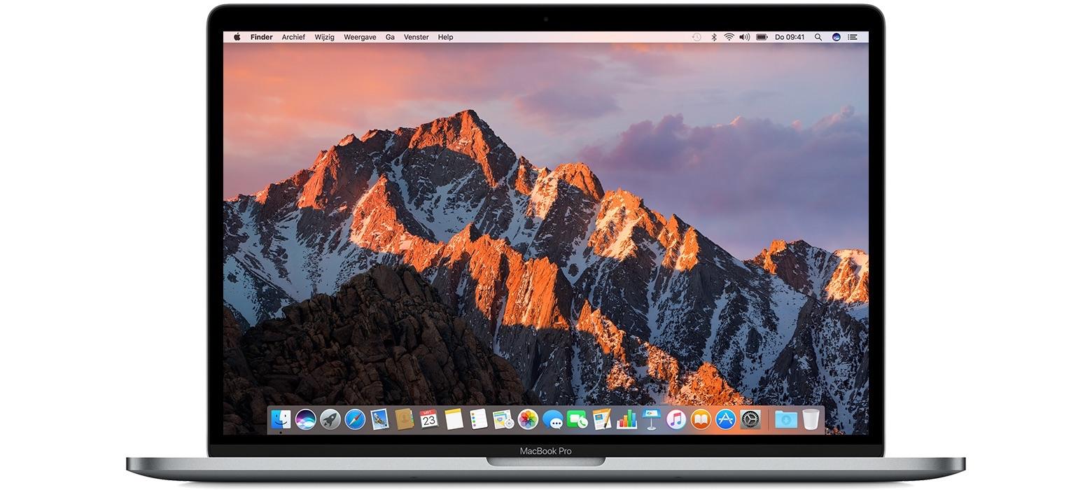 Voorkant van MacBook Pro.