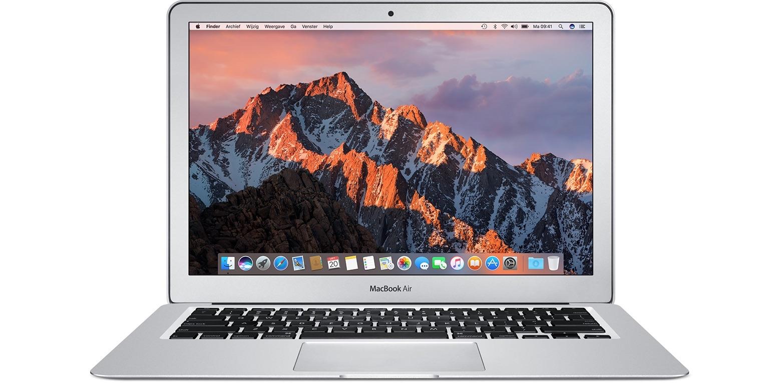 Voorkant van de MacBook Air.