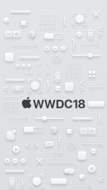WWDC 2018 wallpaper iPhone 8 dark logo