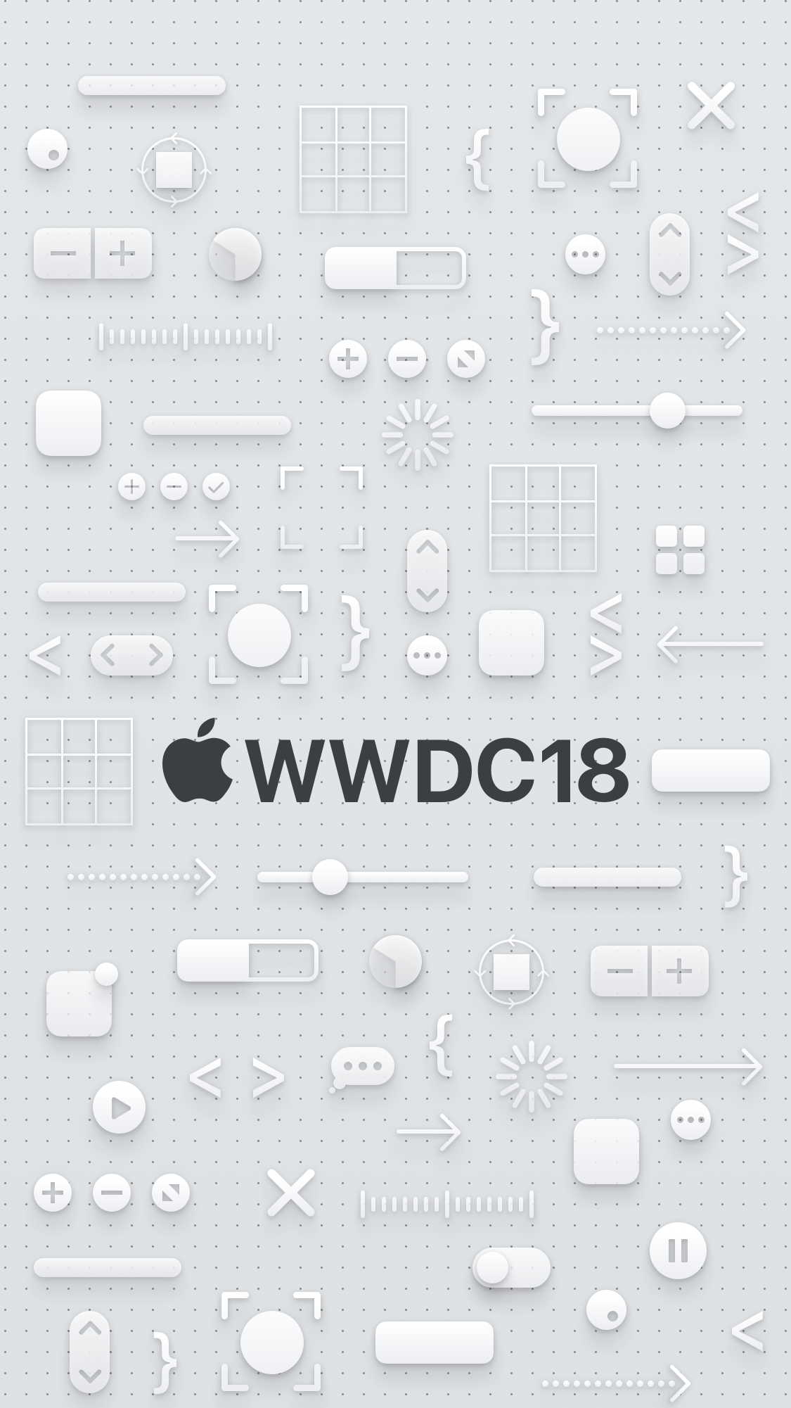 WWDC 2018 wallpaper iPhone 8 dark logo