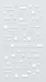 WWDC 2018 wallpaper iPhone 8 Plus light logo