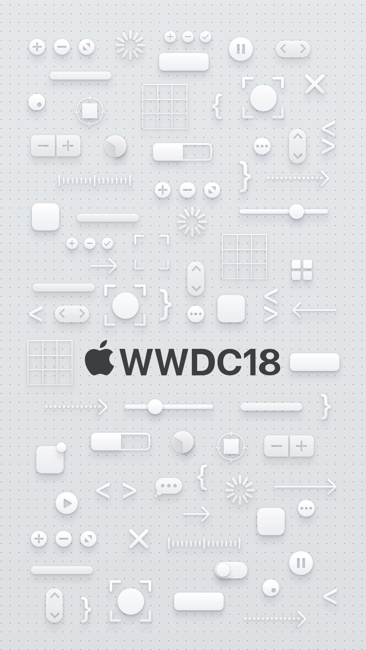 WWDC 2018 wallpaper iPhone 8 Plus dark logo