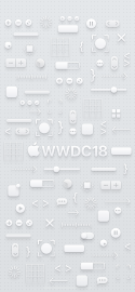 WWDC 2018 wallpaper iPhone X light logo