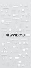 WWDC 2018 wallpaper iPhone X dark logo