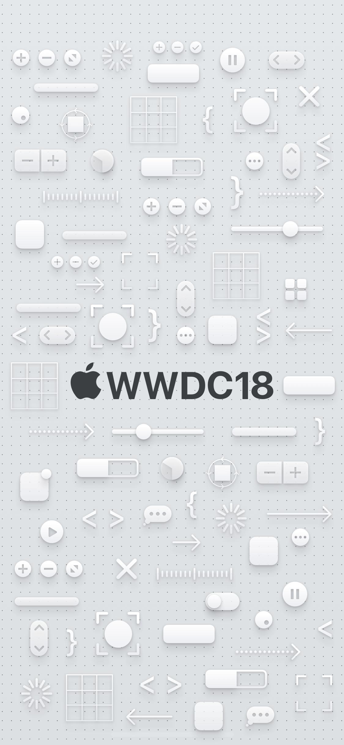 WWDC 2018 wallpaper iPhone X dark logo