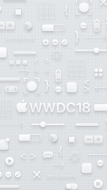 WWDC 2018 wallpaper iPhone SE light logo