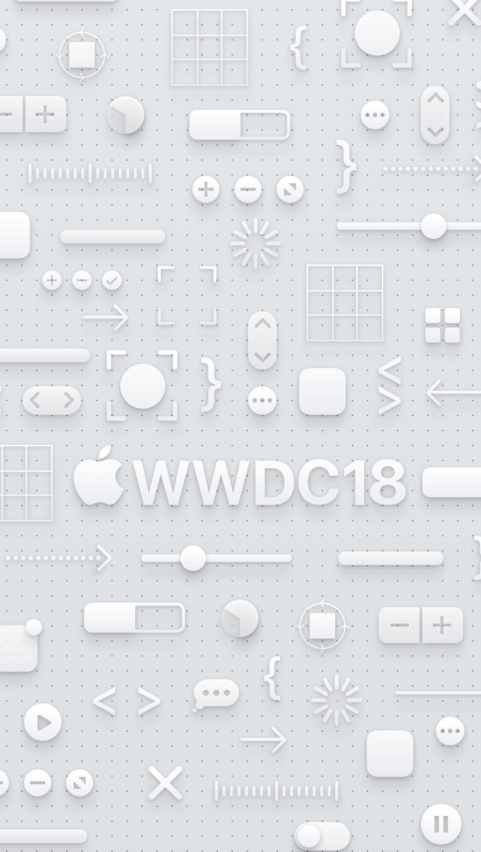 WWDC 2018 wallpaper iPhone SE light logo