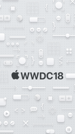 WWDC 2018 wallpaper iPhone SE dark logo