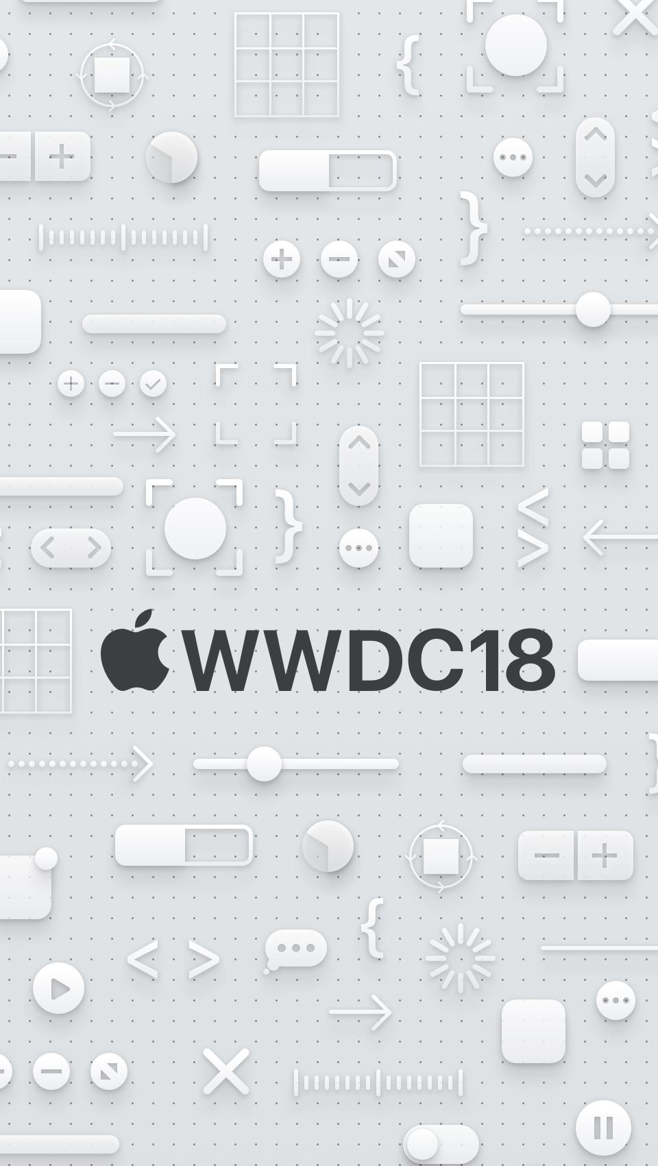 WWDC 2018 wallpaper iPhone SE dark logo