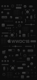 WWDC 2018 wallpaper iPhone X dark mode