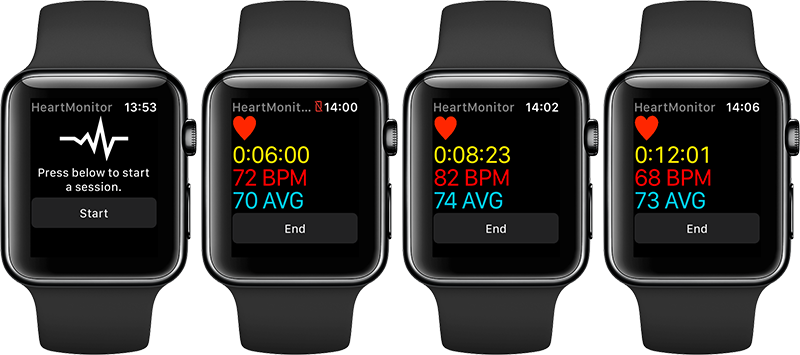 HeartMonitor op Apple Watch