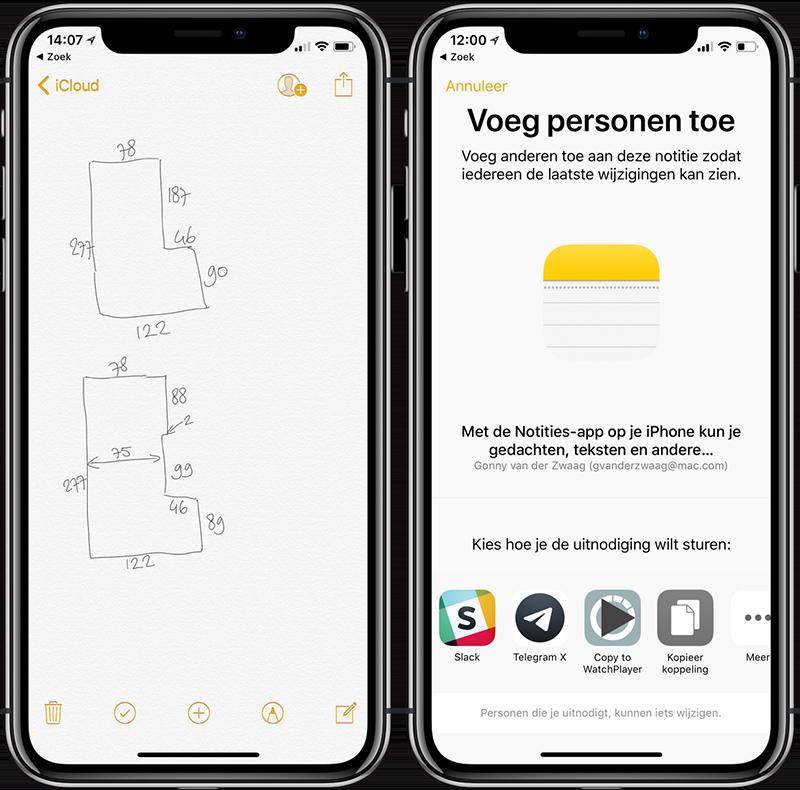 Notities-app samenwerken