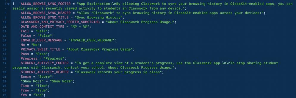 Classwork code
