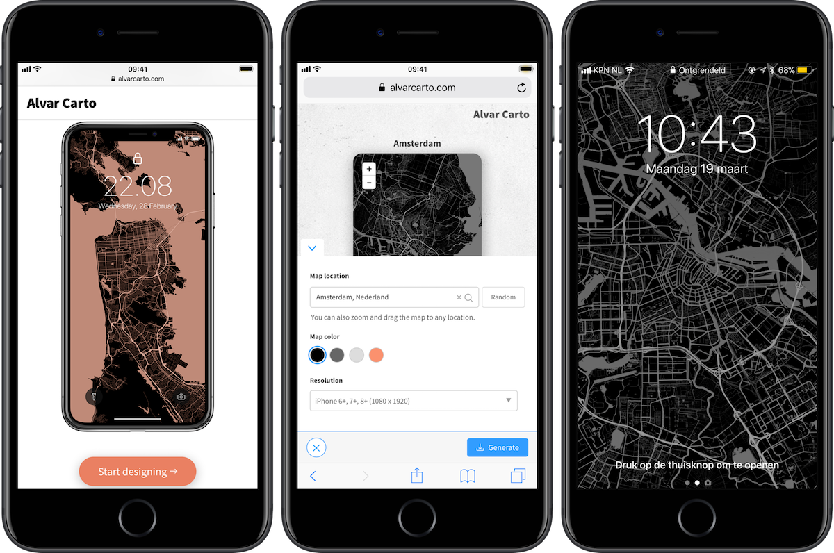 Alvar Carto iPhone-achtergronden