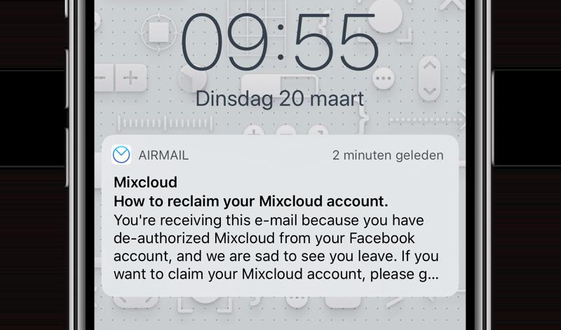 Mixcloud mailtje