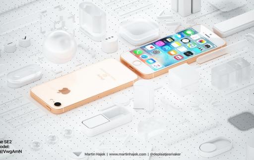 iPhone SE 2 concept van Martin Hajek.