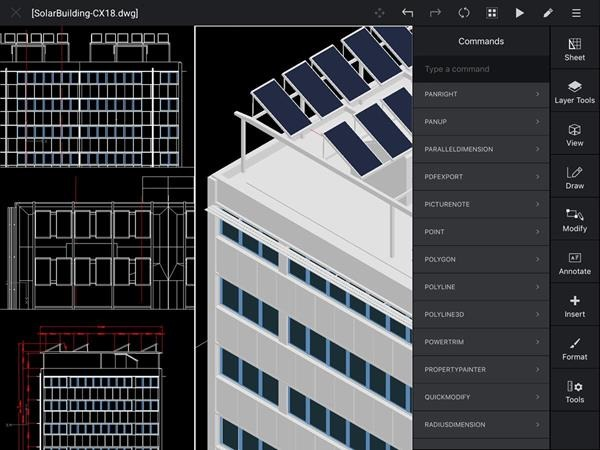 CorelCAD Mobile iPad
