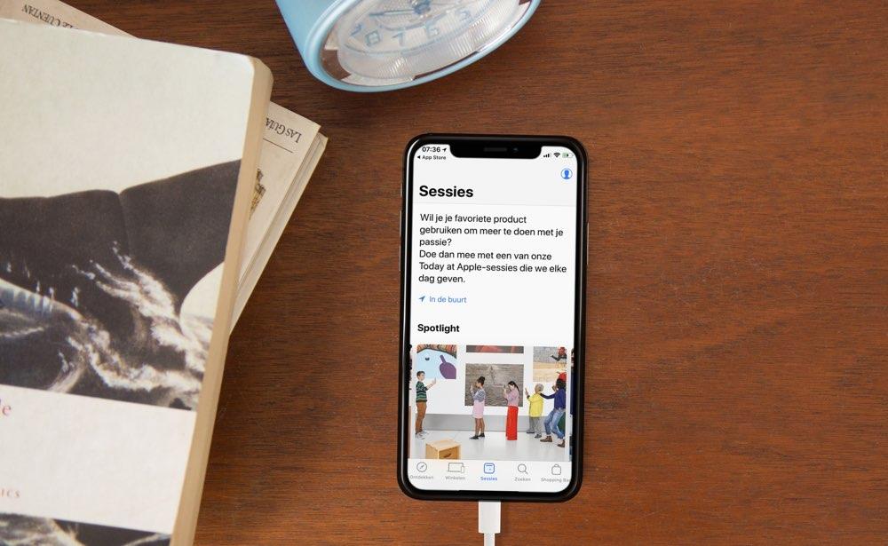 Apple Store-app met sessies