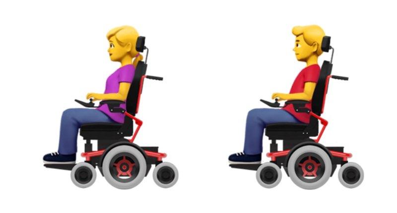 Apple emoji rolstoel