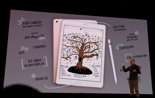 iPad 2018 met Apple Pencil om te tekenen.