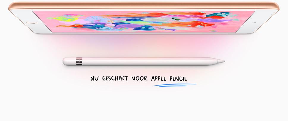 iPad 2018 nu ook met Pencil.