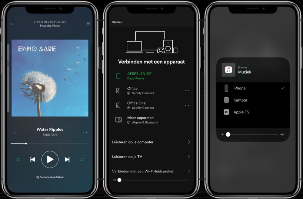 Spotify op de HomePod afspelen.
