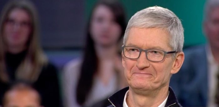 Tim Cook op tv