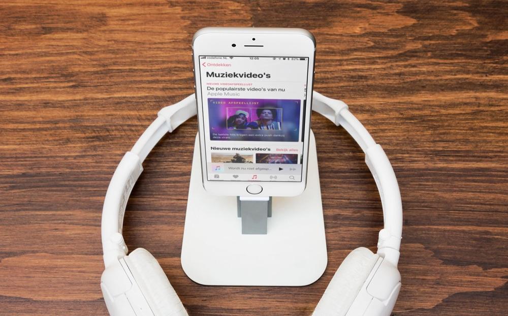 Muziekvideo's categorie in Apple Music.