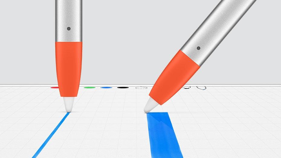 Schrijven met Logitech Crayon