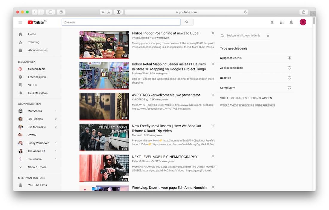 Kijkgeschiedenis Netflix en Youtube wissen
