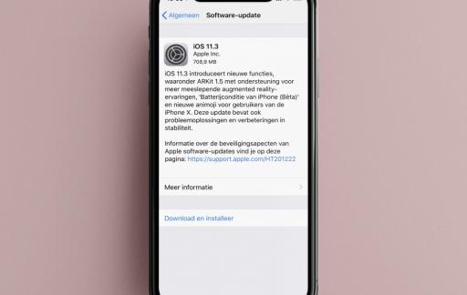 iOS 11.3 update