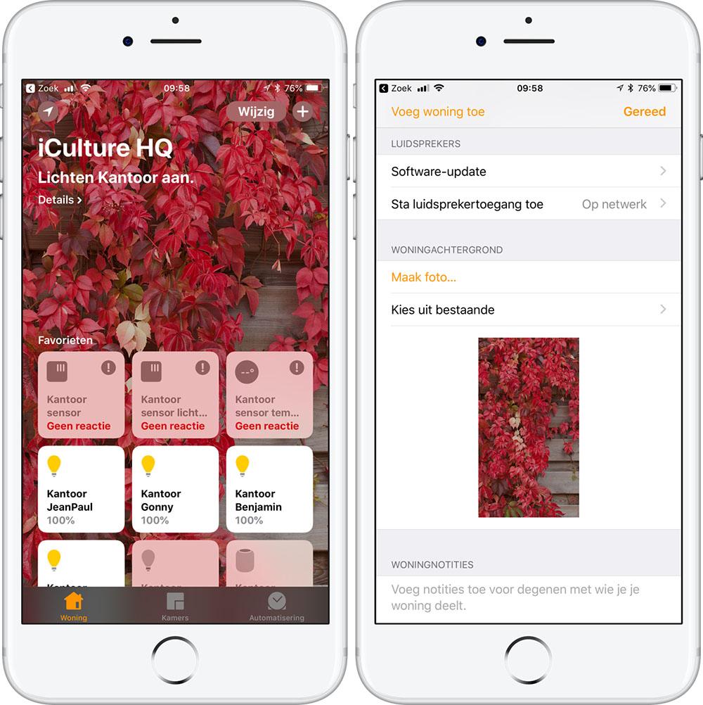 HomePod updaten met Woning-app