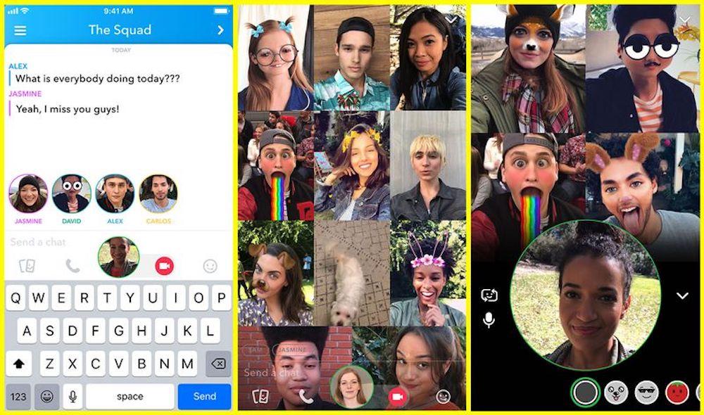 Snapchat videobellen met een groep