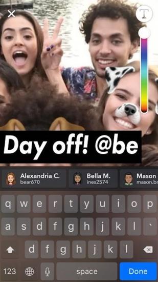 Snapchat vrienden benoemen