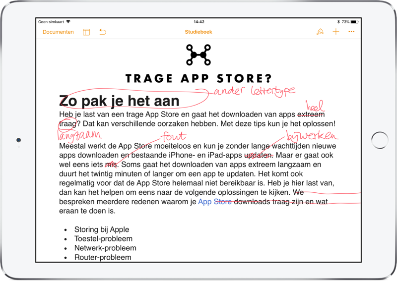 Pages: Smart annotatie na