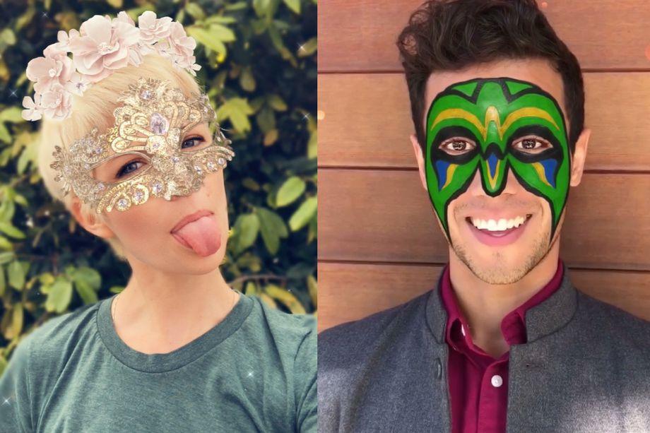 Snapchat-lenzen TrueDepth