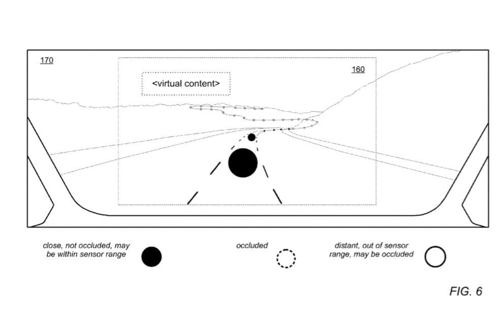 Patent van augmenter reality in de auto.