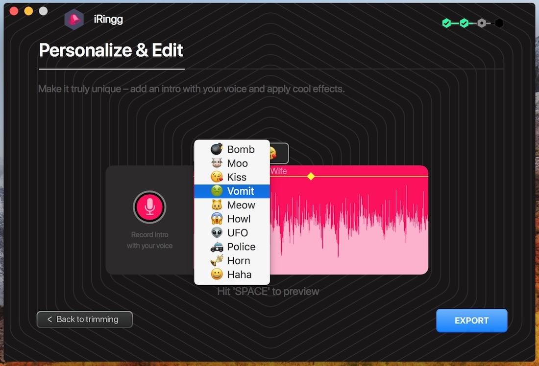 iRingg: maak je eigen ringtones met iTunes muziek