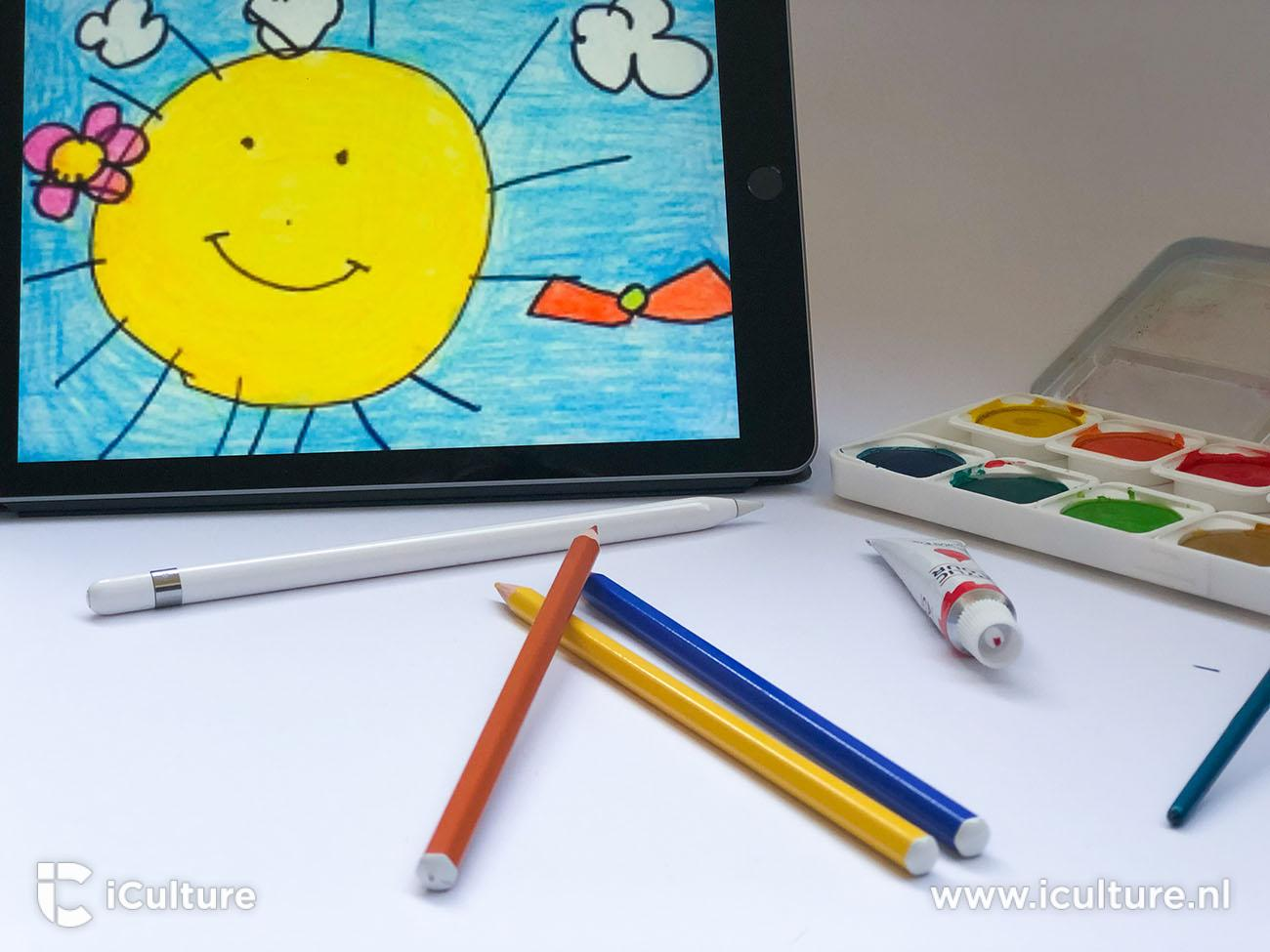 iPad 2018 review: iPad met kindertekening