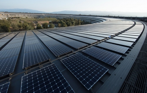 Apple Park: zonnepanelen