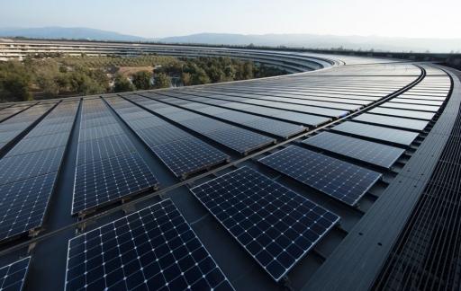 Apple Park: zonnepanelen