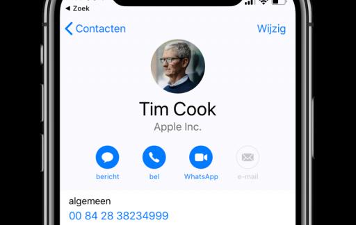 Adresboek Tim Cook