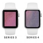 Concept van een Apple Watch Series 4 met groter scherm.