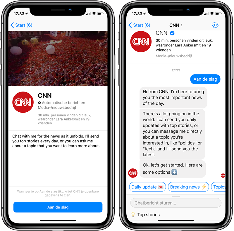 CNN Facebook Bot