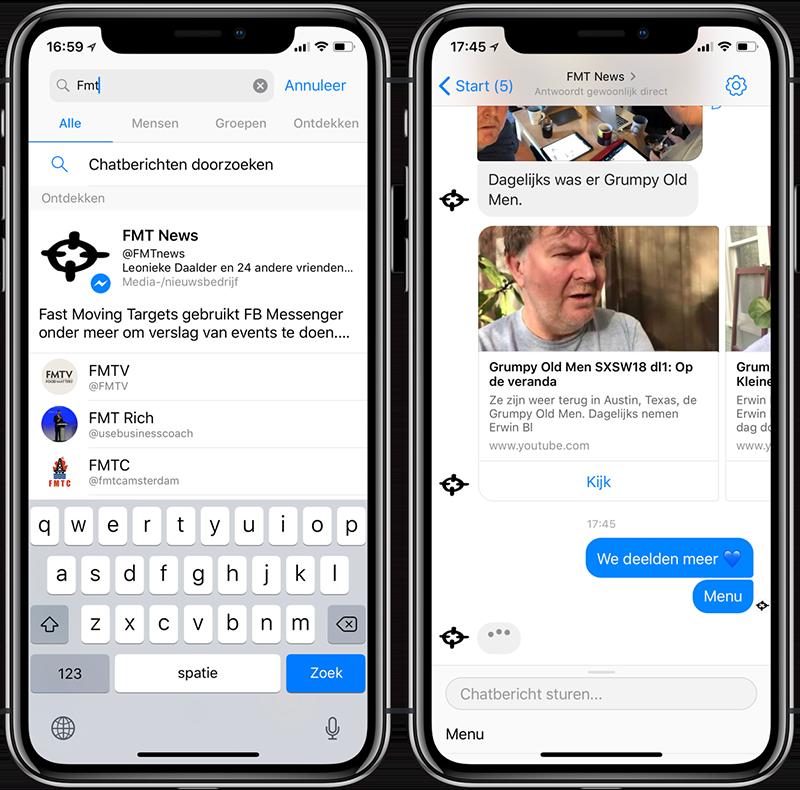 FMT chatbot in Facebook Messenger