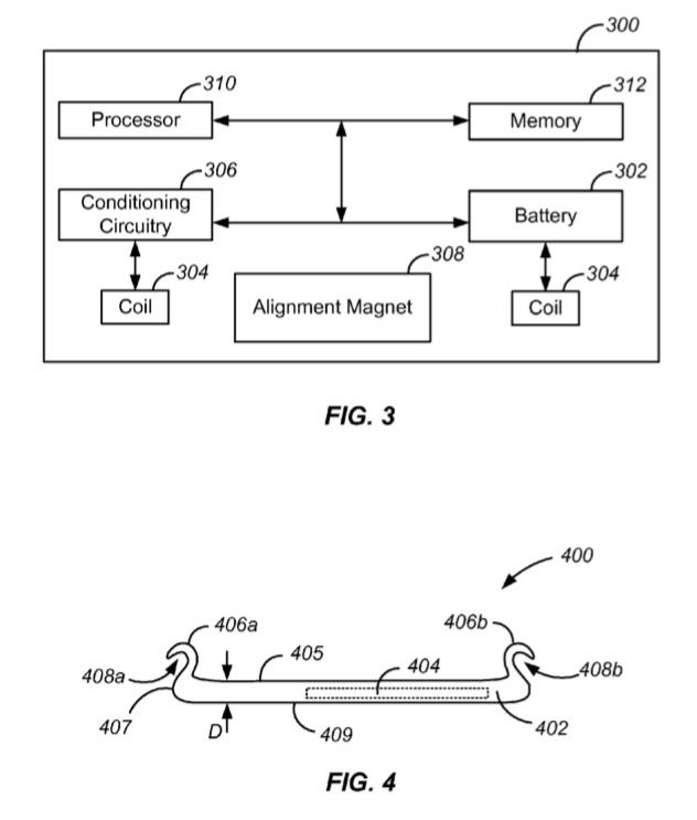 Werking van patent met Apple Watch achterkant.
