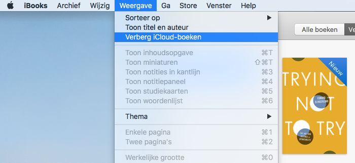 Boeken verbergen in iBooks-app voor Mac