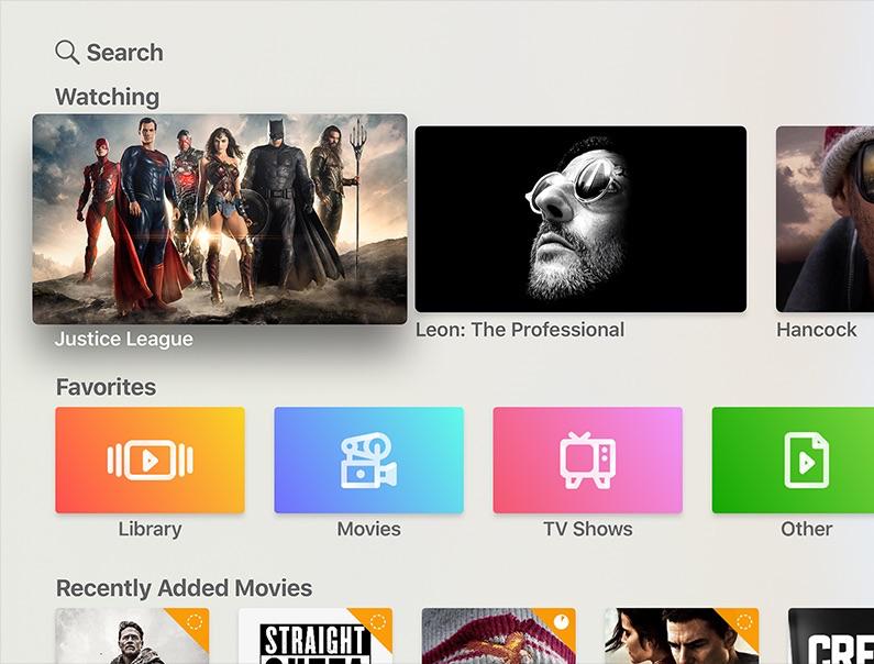 Infuse op Apple TV vernieuwd.