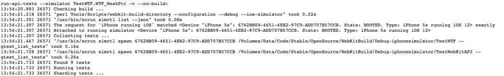 iOS 12 op de iPhone 5s in logs voor WebKit.